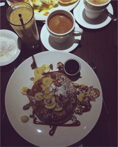 The Pancake House, Tasty Pancakes, Shanghai, Waffles, Restaurant, Breakfast, Tableware, Food, Morning Coffee