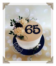 65th Sapphire Wedding Anniversary Cake