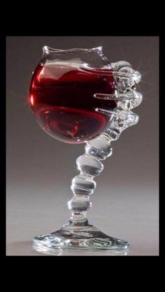 Alien wine glass. How cool is that!