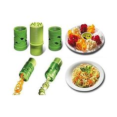 Veggie Magical Slicer And Salad Decorator.. Make your veggies fun to eat .. enjoy the vegetable like never before .. Veggie Magical Slicer And Salad Decorator is safe and easy to operate like a child's play.. Simply take the piece of your favorite vegetable , fix it on the fixture pins and twist.. Make spiral shapes out of Cucumbers, Carrots, Sweet Potatoes and Radishes to make healthy salads and make spaghetti shapes out of Zucchinis to make raw pasta...