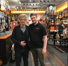 Staff at the guitarguitar store in Glasgow welcome an unexpected browser today 15/9/17  @guitarguitarglasgow Instagram.