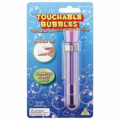 Touchable Bubbles. The bubbles harden after you blow them so the kids can actually catch them.