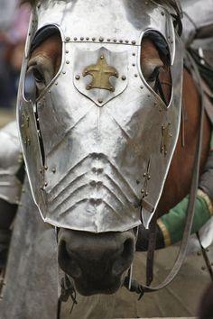 Renaissance Festival  Horses in armor at  www.renaissancefairemysteries.com