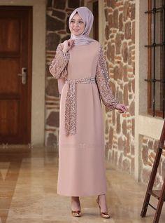 Modesty Fashion, Abaya Fashion, Muslim Fashion, Hijab Dress Party, Hijab Outfit, The Dress, High Neck Dress, Ems, Funky Dresses