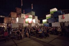 O+A's Recycled Shipping Container Theater Pops Up in Amsterdam...