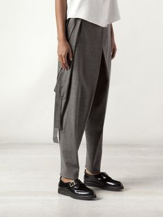 INAISCE - Tapered Harem Trouser with Extended Panel - 13035 NASREDDIN SILT - H. Lorenzo