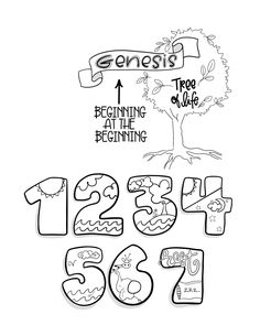 Doodle Through the Bible / A Year in the Word Bible Study Journal, Scripture Study, Bible Art, Bible Verses, Genesis Bible, Bible Doodling, Bible Coloring Pages, Bible Activities, Sunday School Lessons