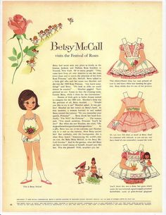 Site for McCall paper dolls and the printable PDF versions