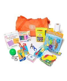 Take a look at this Preschool Motor Duffle Bag Set on zulily today! Best products with activity suggestions. Designed by an OT- perfect for home programming! #pedsOT #homeprogram #OTactivities