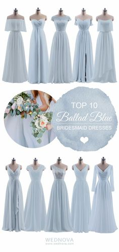 Blue Bridesmaid Dresses. Do you want to have a nice wedding ceremony that you will never forget for the rest of your life? Please click to get information that you cannot do without having. Related: Wedding Bunting Pictures.