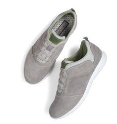 #TuesdayTreasure | Light-footed through the day thanks due to our specially genius light sole! #bugattifashion #SS16 #sneaker #grey #light