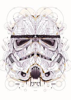 Stormtrooper. Yo Az. Project. Illustration. Movie. Star Wars. Classic. Soldier. Modern. Measures. Figures. Circles. Parts. Details. Design. Skill. Dedication.