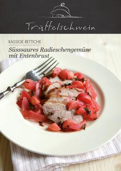 Süsssaures Radieschen-Gemüse mit Entenbrust