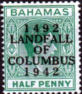 Bahamas 1942 Landfall of Columbus Overprint Fine Mint SG 167 Scott 121 Other Bahamas Stamps HERE