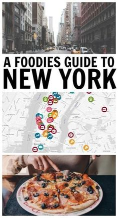 Map to all the best restaurants and food stop in New York City. Pin for later! More #RomanceandFoodieTravel