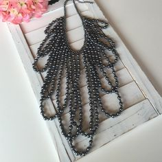 """🍍Night out Necklace Beautiful Gray necklace !!!!! Good condition worn once. Adjust from 18"""" to 21"""".    Ref#10 Jewelry Necklaces"""