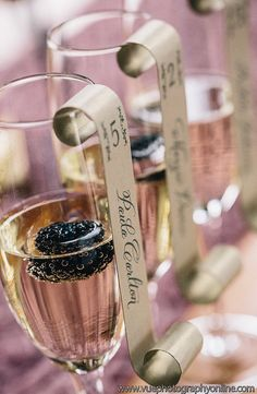 Deposit for Champagne Flute Escort Cards as seen on by yourhinote