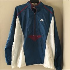 Nike Windbreaker Retro Nike Windbreaker. Size tag says XL so it must be a boys XL, but it fits just like a men's medium. Nike Jackets & Coats