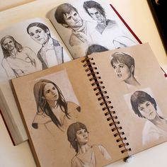 Sketches in toned paper sketchbook by Kasia Sl… – People Drawing Sketchbook Drawings, Drawing Sketches, Art Drawings, Sketching, Moleskine Sketchbook, Paper Drawing, Paper Art, Drawing Art, Toned Paper