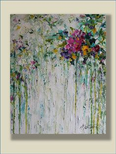 Flower Painting Abstract Acrylic Painting Acrylic by mgotovac