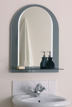 Bathroom Narrow Mirror Just Simple But Modern Decorative Inspiration Added Space To