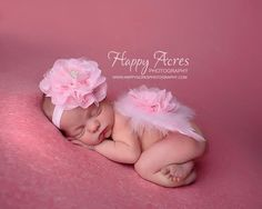 PINK NEWBORN WINGS and headband feather wings by alliballiboutique, $26.95