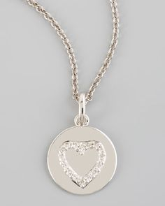 Diamond Heart Necklace by KC Designs at Neiman Marcus.