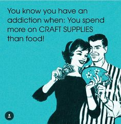 Feed the addiction 😂😜😍 📸: via Hobby Lobby Wall Art, Sewing Quotes, Scrapbook Quotes, Laughing Quotes, Craft Quotes, Creativity Quotes, Scrapbook Paper Crafts, Scrapbooking Ideas, New Crafts