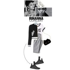 Rihanna Concert by anastasiazenia on Polyvore featuring H&M, Moschino, Lands' End, Puma, WithChic, contest and Rihanna