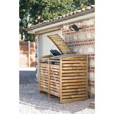 Cache-poubelle double Jardiland Plus Storage Bins, Outdoor Furniture, Outdoor Decor, Palette, Home Improvement, Patio, Parking Lot, House, Ranger