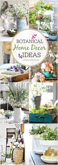 DIY Home Decor – Botanical Spring Decor DIY Home Spring Decor ideas inspired by nature. See how you can decorate any room of your home using flowers and plants. Farmhouse Side Table, Farmhouse Decor, Cute Dorm Rooms, Home Projects, Diy Home Decor, Home Decoration, Diy And Crafts, Easy Crafts, Sweet Home