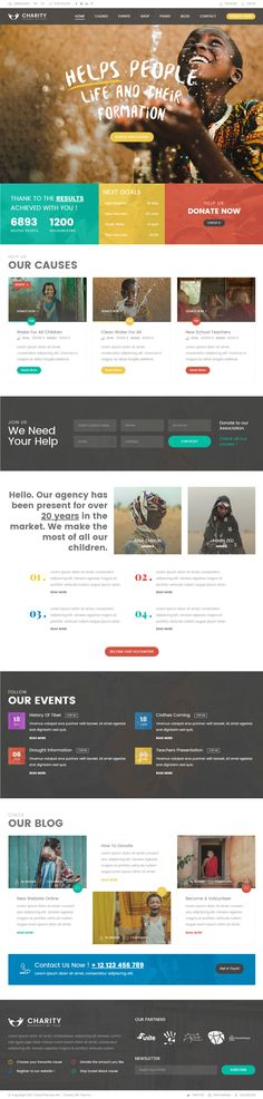 Charity Foundation - Charity Hub PSD Template Do. Web Design Websites, Online Web Design, Web Design Quotes, Web Design Tips, Best Web Design, Web Design Trends, Web Design Company, Design Ideas, App Design