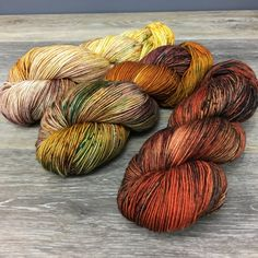 Autumn Dreams  Three Skein Shawl or Sock Kit Hand Dyed by WIPyarns
