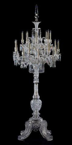 ❤ - Cristalleries de Baccarat  Twenty-Four-Light Candelabrum, ca. 1888–1914