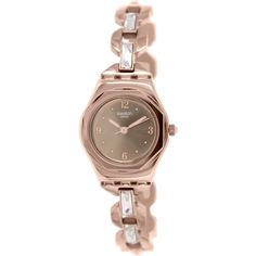 Swatch Women's Irony YSG136G Rose Goldtone Stainless Steel Swiss... (7.260 RUB) ❤ liked on Polyvore featuring jewelry, watches, stainless steel wrist watch, swatch watches, stainless steel watches, rose gold tone jewelry and crown jewelry