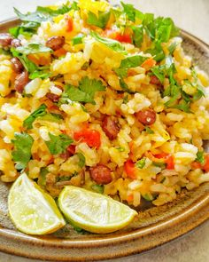 Klunker's one pot cilantro lime rice   Well, the title was long enough. But I guess if you are making a whole meal in one recipe, the...