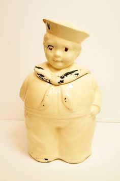 USA made 1940's WWII Era Shawnee Sailor Cookie Jar Free Shipping! by VintageAndLoverly on Etsy