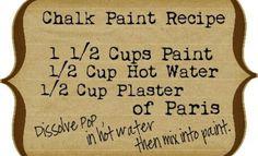Chalk board paint