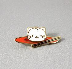 Xiao Long Meao Enamel Pin, xiao long bao, bread, cute cat pin, lapel pin, food, foodie, chinese , taiwanese, food pun, kawaii kitty, gift