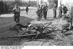 Holland, Arnheim/Nymwegen.- Gefangene britische Soldaten; Lw Kdo West Dating: September 1944