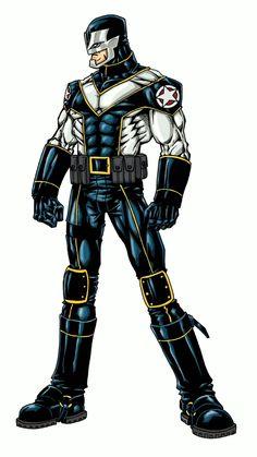 Patriot by jmqrz on DeviantArt Comic Character, Character Concept, Concept Art, Marvel Dc, Power Rangers, Dc Comics, Cyberpunk, League Of Heroes, Comic Art