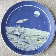 Check out FIRST MEN ON THE MOON HISTORY 1969 Plate 1ST EDITION  http://www.ebay.com/itm/FIRST-MEN-MOON-HISTORY-1969-Plate-1ST-EDITION-/150571172741?roken=cUgayN&soutkn=k3Sz4U via @eBay