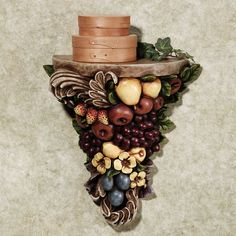 Tuscan Fruit Wall Shelf @ www.touchofclass.com