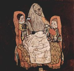 * Mother with Two Children 1917 Egon Schiele,