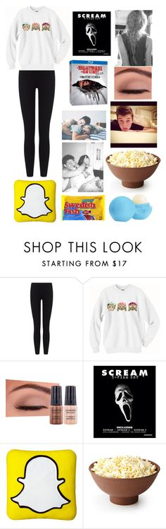 """""""Scary Movie Marathon with Shawn"""" by pinkunicorn45 ❤ liked on Polyvore featuring James Perse, Luminess Air and Eos"""