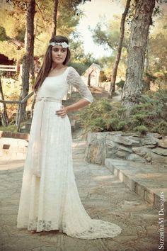Boho Wedding Dress by SuzannaM Designs Handmade by SuzannaMDesigns