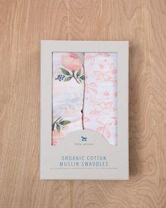 Organic Cotton Swaddle Set - Watercolor Rose