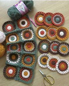 Granny Square Bag Crochet pattern by AnaMoraisSoares Granny Square Crochet Pattern, Crochet Blocks, Crochet Squares, Crochet Granny, Crochet Motif, Crochet Designs, Crochet Flowers, Crochet Stitches, Granny Squares