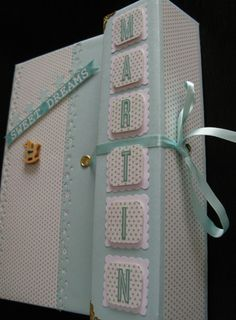 Mini Scrapbook Albums, Baby Scrapbook, Mini Albums, Baby Mini Album, Baby Journal, Book Of Shadows, Book Crafts, Birthday Cards, Handmade