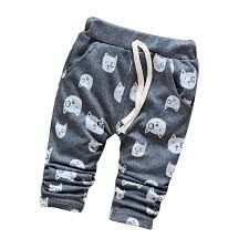 Cartoon Animal Cotton Baby Boy Pants